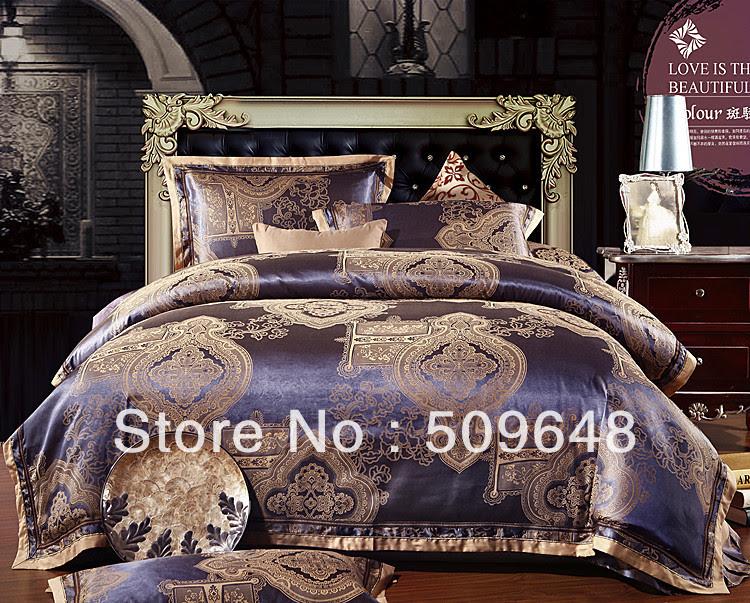 Red Gold Silk Bedding Sets - Home Interior House Interior