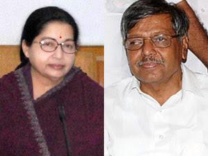 Jayalalitha and Panruti Ramachandran
