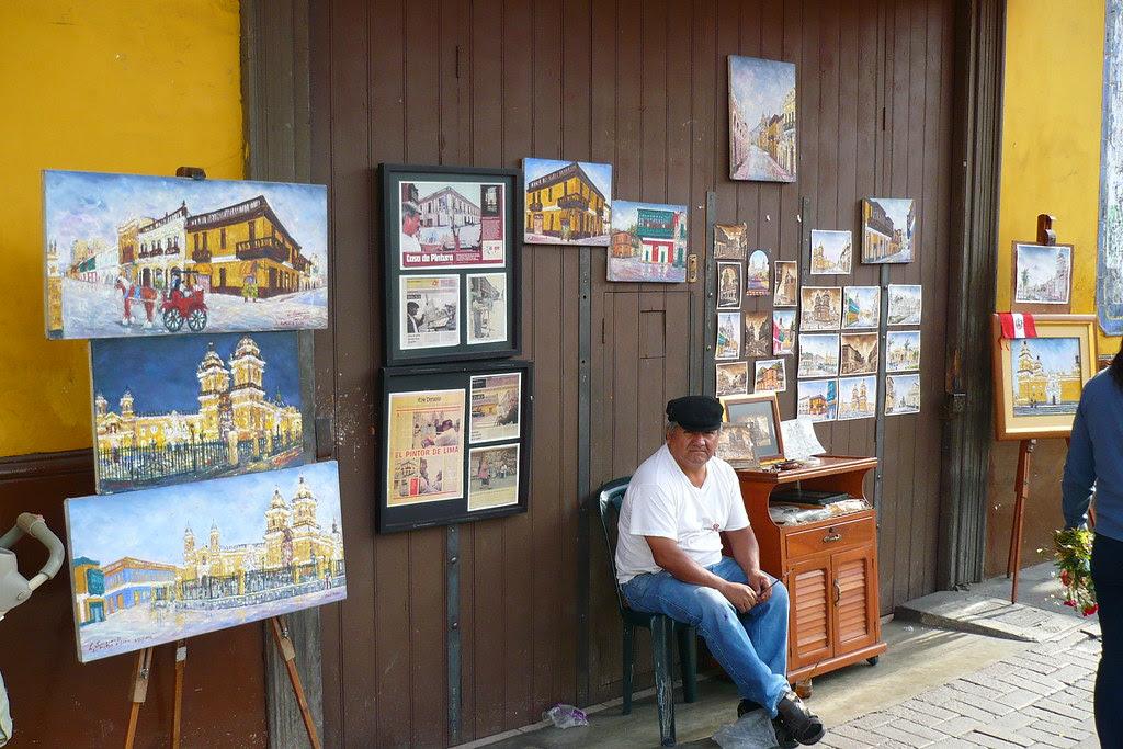 Pintor frente a Iglesia San Francisco