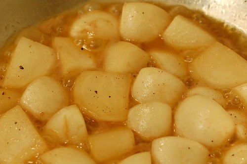 Turnips braising