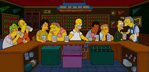Image result for last supper simpsons