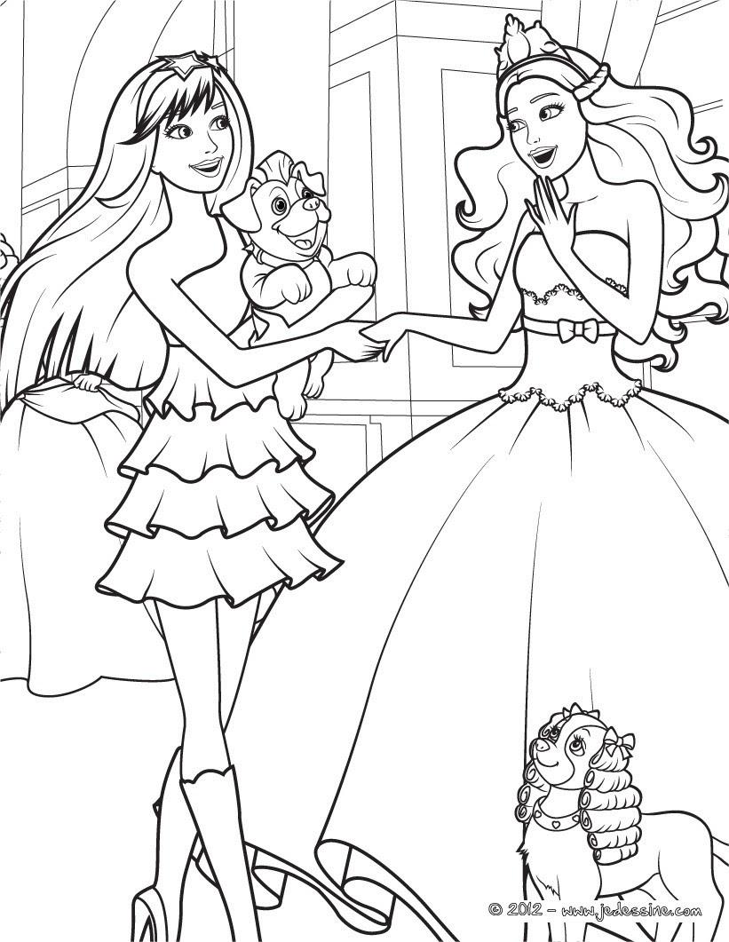 Coloriage De Barbie Et Ses Soeurs Imprimer Et Obtenir Une