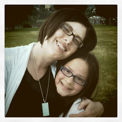 Mom and B