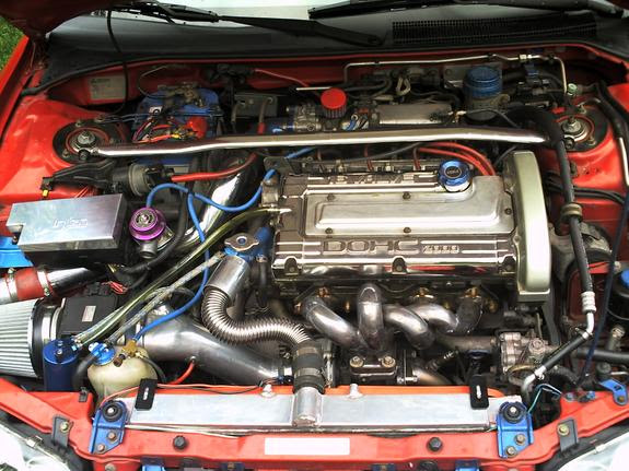 View Mitsubishi Eclipse Gst Engine Bay