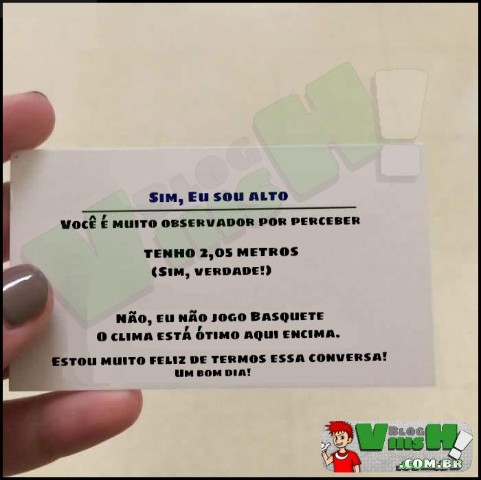 Blog Viiish - Um cartão para gente alta
