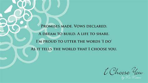 I Choose You ~ A Wedding Poem   YouTube