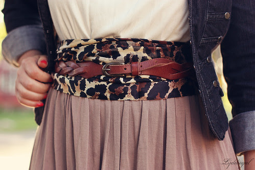 Belt over scarf