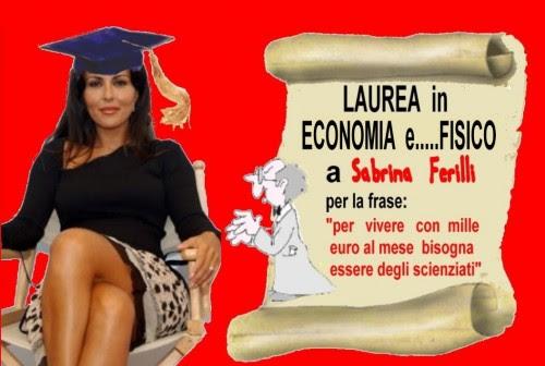 sabrina ferilli,attualità,frase di laurea,mille euro al mese,