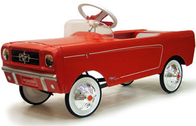 Red 65 Mustang Pedal Car