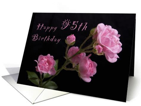 Happy 95th Birthday, Pink roses card (1063411)