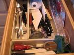 Orderly Places - Kitchen Drawer Before