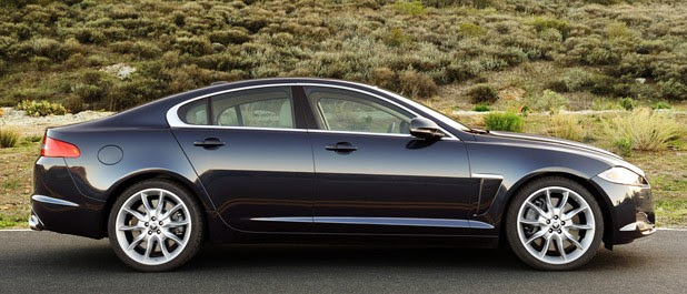 2012 Jaguar XF Supercharged side view