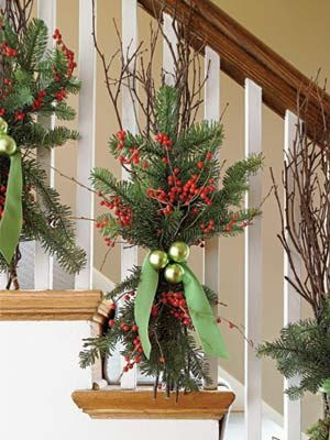 Deck the Banister - 50 Easy Holiday Decorating Ideas