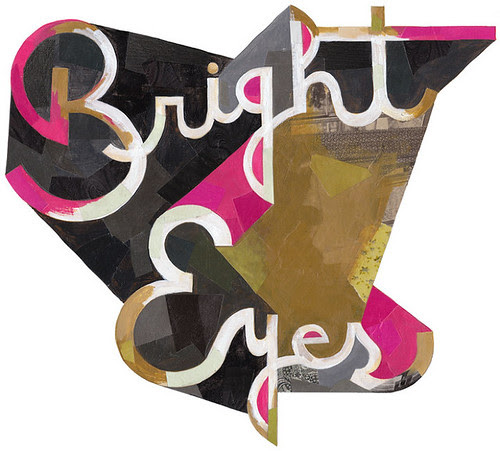 1-Typography - Bright_Eyes Printed with hits of neon pink ink by darrenbooth
