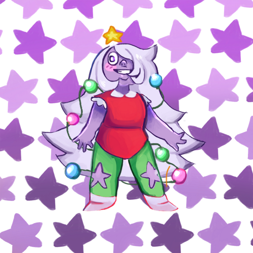 Christmas Steven Universe fanart. If you like it, you can look here :>> https://www.redbubble.com/people/WithoutEyebrows?asc=u