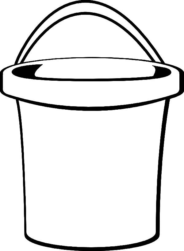 Beach Bucket Drawing Coloring Pages