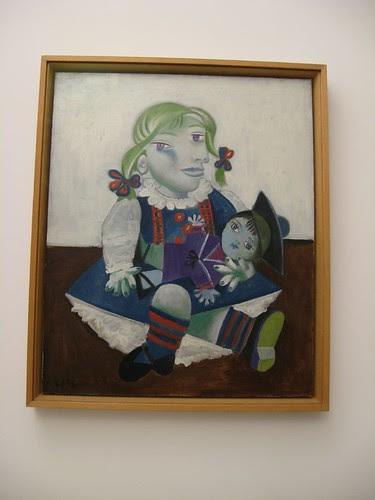 Retrato de 'Maya con muñeca' de Picasso