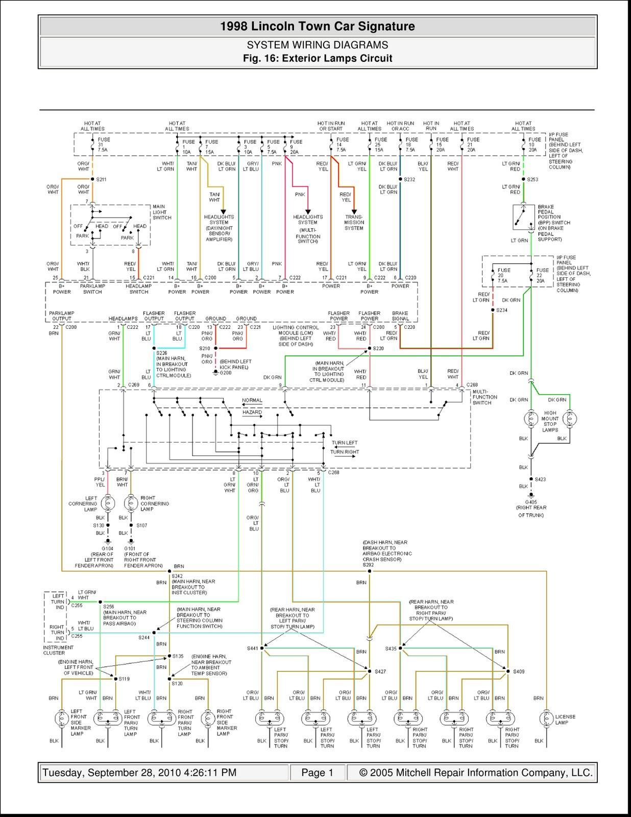 1997 Lincoln Continental Fuse Box Diagram - Wiring Diagram ...