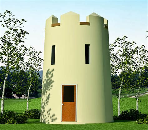 observation tower   guard tower earthbag house plans