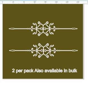 Border 1  Flourish  2 per pack page border flourish  2 sided  24