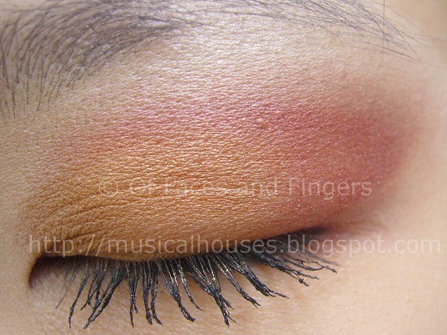 sunset orange red eye look 2