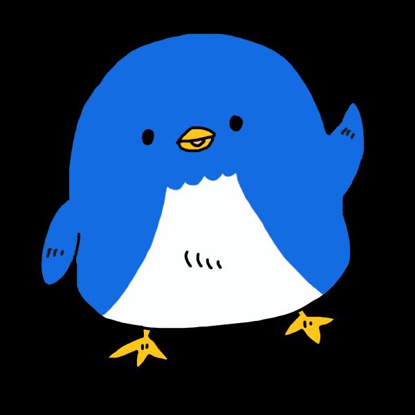かわいいペンギン1のイラスト かわいいフリー素材が無料のイラストレイン