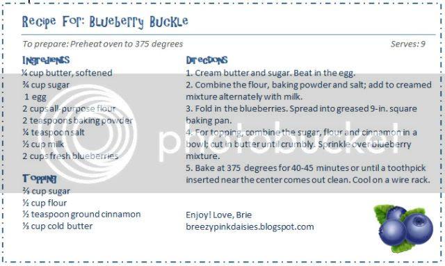 Blueberry Buckle Breakfast Recipe
