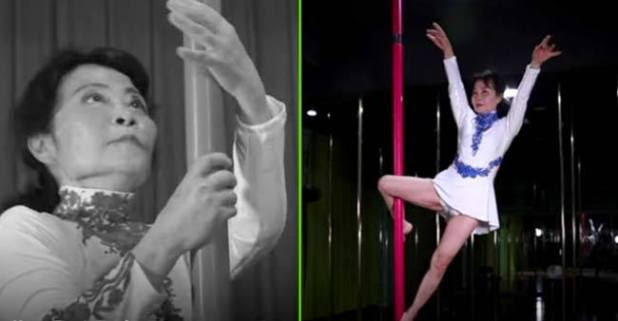 73 Years Old Lady Named Dai Dali Passionate For Pole Dancing Is An Inspiration For Many