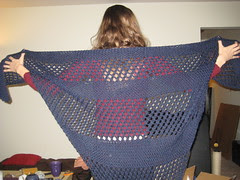 Giant Blue Shawl for Marge