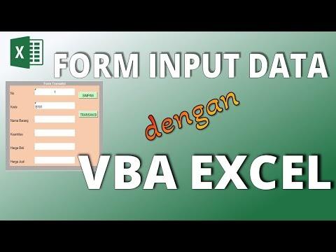 Cara Membuat Form Input Data dengan Macro VBA di Excel