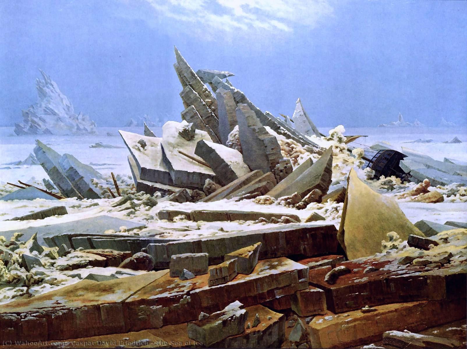 El Mar de Hielo, óleo sobre lienzo de Caspar David Friedrich (1774-1840, Germany)