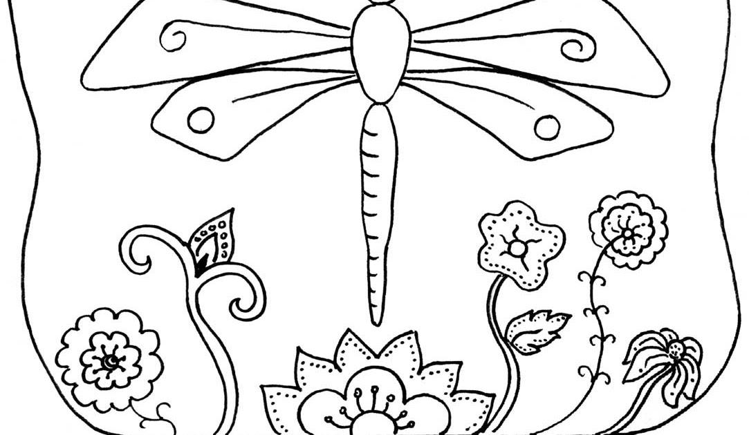 Gambar Gambar Mewarnai Capung Terbaru Gambarcoloring Jahe Download