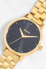 Nixon Kensington Gold and Black Sunray Watch