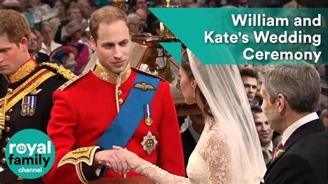 William and Kate's wedding ceremony   YouTube