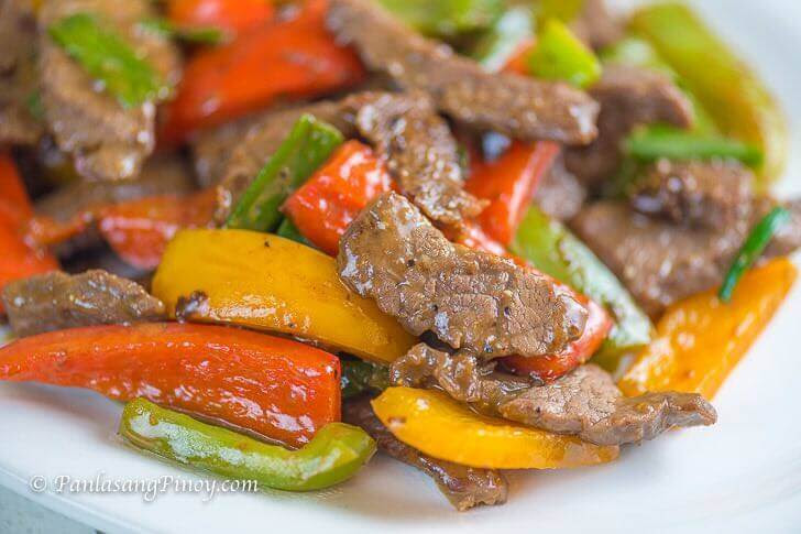 Stir Fried Pepper Steak - Panlasang Pinoy