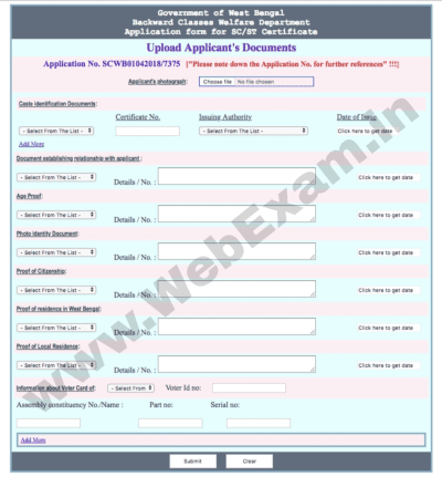 Obc Certificate Application Form Am on