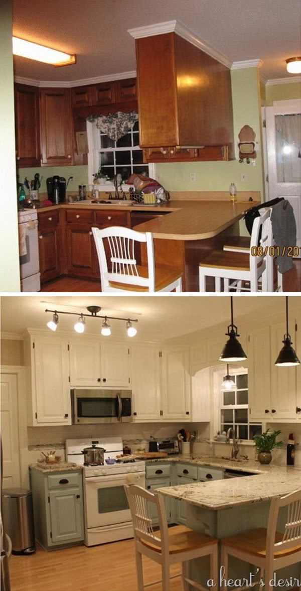 Before and After: 25+ Budget Friendly Kitchen Makeover Ideas  Hative