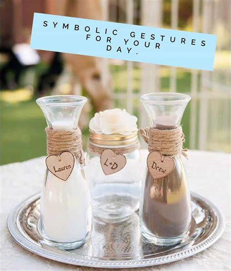 Symbolic Gestures in your wedding and naming ceremony