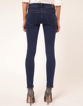 Image 2 ofBeg Borrow Or Steal Medium Blue Supersoft Skinny Jeans