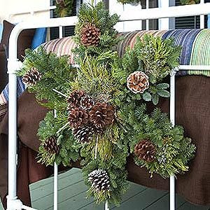 I use wreaths both indoors and out. I hang a trio of them on my kitchen windows and on the foot boards of beds. Outside I put them on gates, windows and, of course, the front door. P. Allen Smith