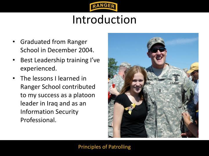 PPT - Principles of Patrolling Applying Ranger School ...