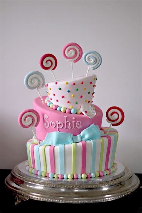 Sophie?s Sweet Candy Themed Bat Mitzvah Cake   The Couture