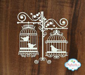 Винтажные клетки с птичками [2] ― Магазин-производство товаров для рукоделия и скрапбукинга.