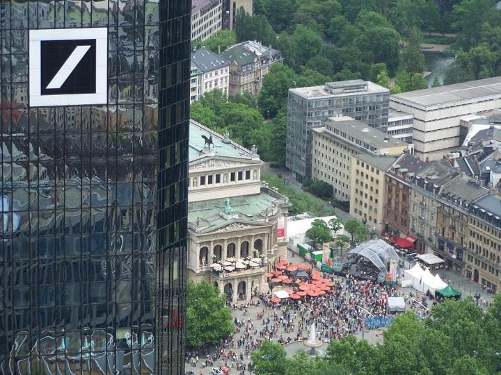 <p>Sede central delDeutsche Bank, en Fráncfort.</p>