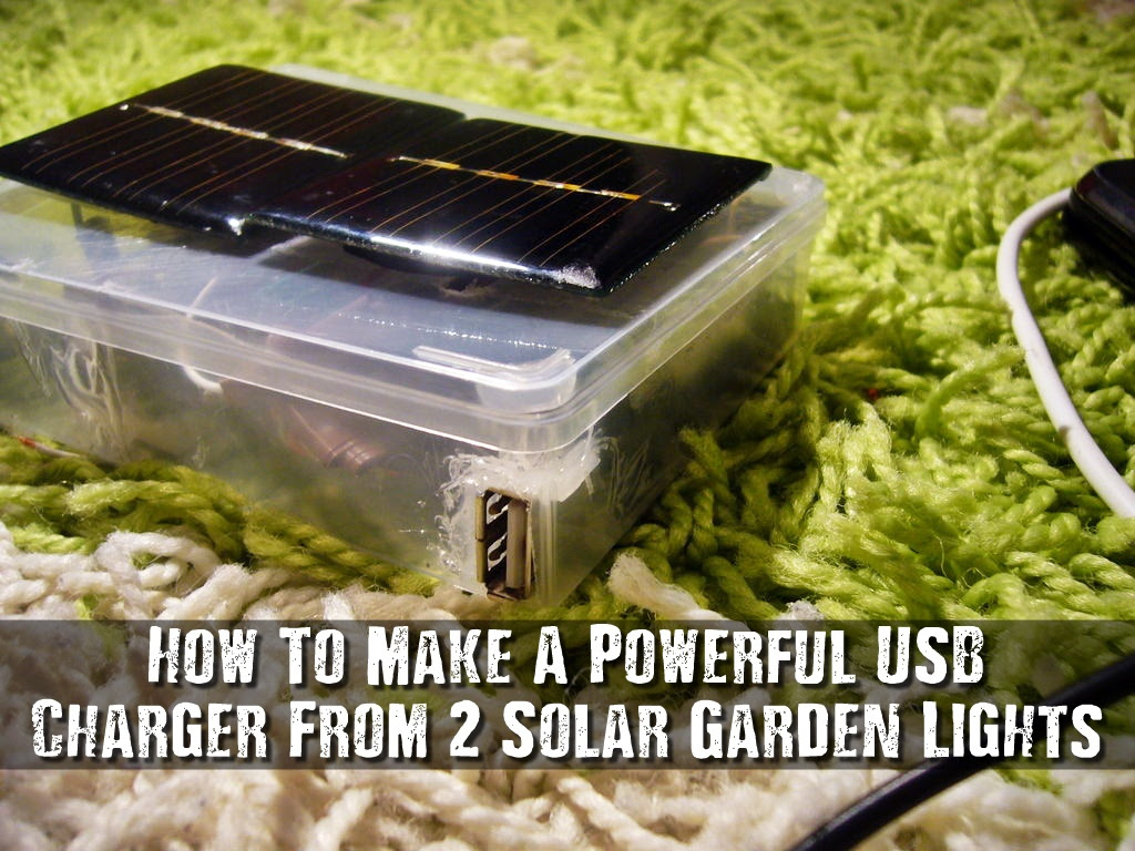 How To Make A Powerful USB Charger From 2 Solar Garden Lights  SHTF  Prepping Central