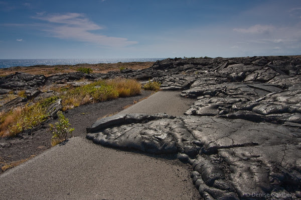 hardened lava over the road, hawaii volcanoes national park