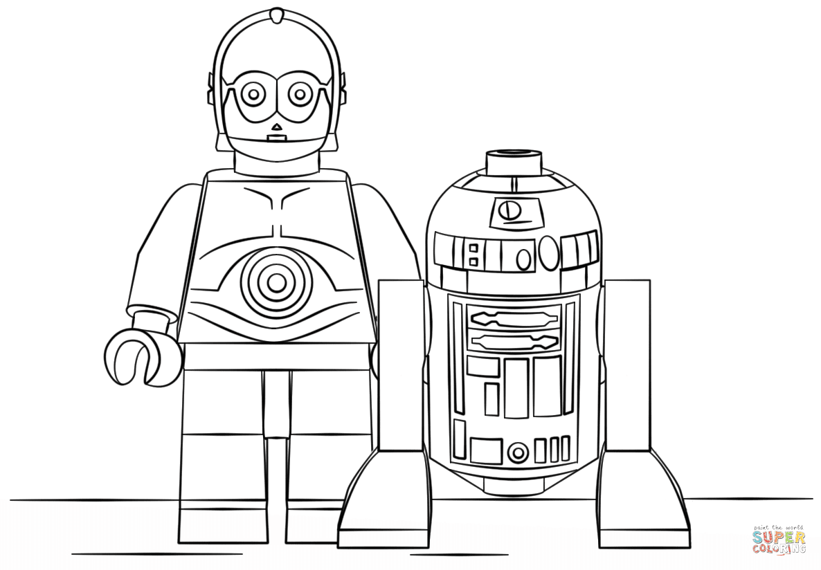 the Lego R2D2 and C3PO