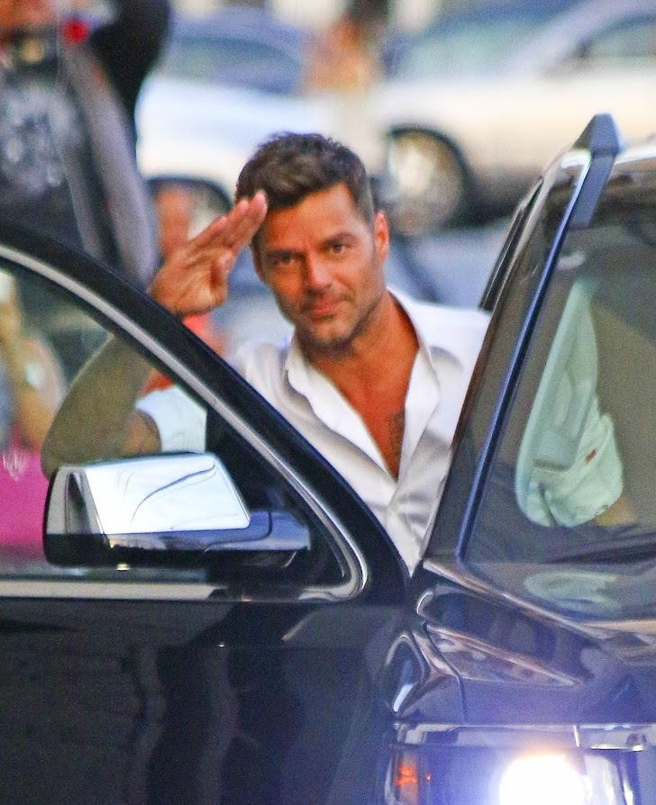 19 - Ricky Martin says hello to everyone.
