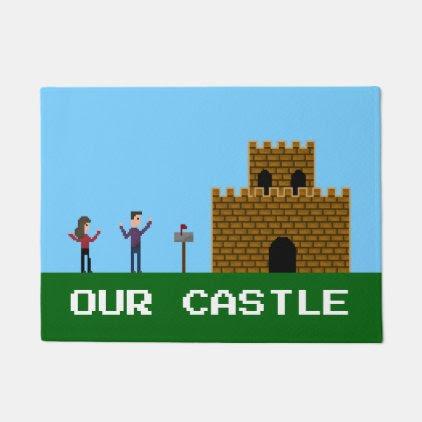 8Bit Pixel Gamer Welcome Home Our Castle Doormat
