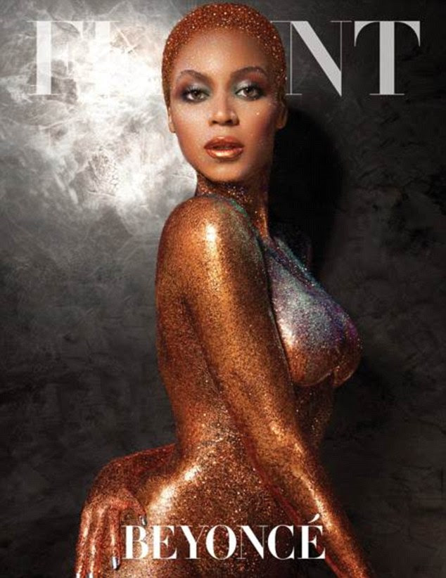 Beyonce on the cover of Flaunt magazine